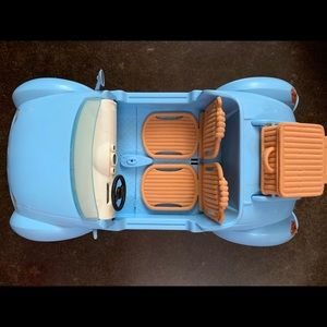 Barbie Blue Convertible with Removable Suitcase
